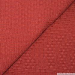 Jacquard de laine mélangée fantaisie rouge