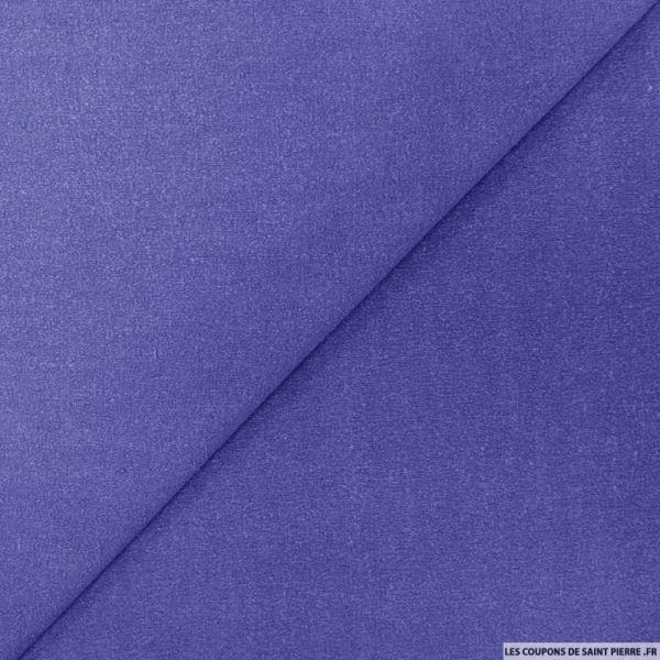 Bourrette de soie teint bleu