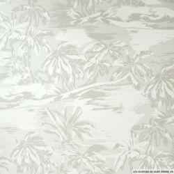 Lin mélangé palmier gris perle