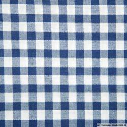 Tissus Coton Vichy 9mm bleu roi