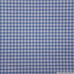 Coton Vichy 3mm bleu roi