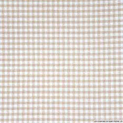 Coton Vichy 3mm beige
