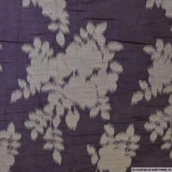 Polycoton contrecollé violet et gris fantaisie