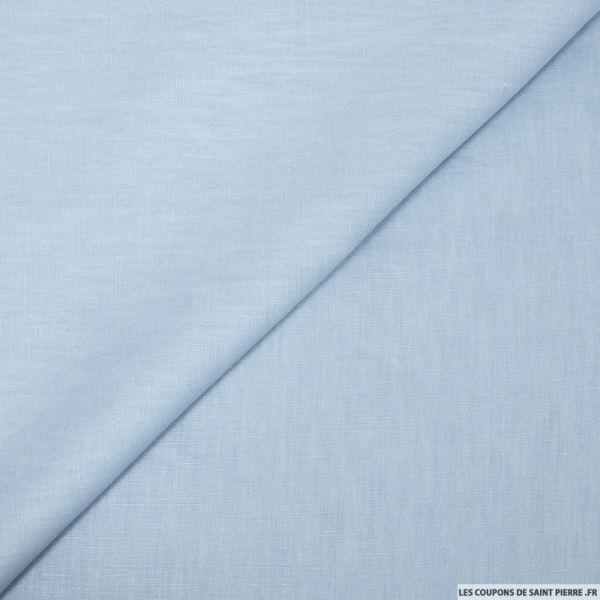 100% Lin bleu dragée