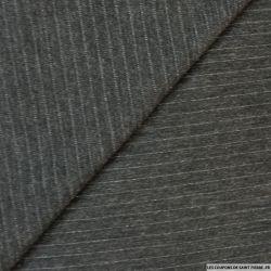 Satin de polycoton argenté graphique