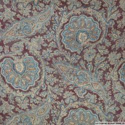 Mousseline polyester imprimée tropicale