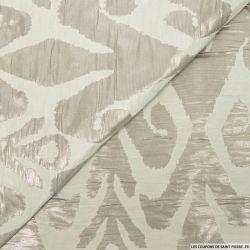 Jacquard polyester ethnique sable irisé