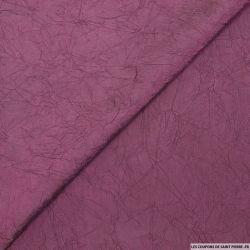 Taffetas polyester froissé prune