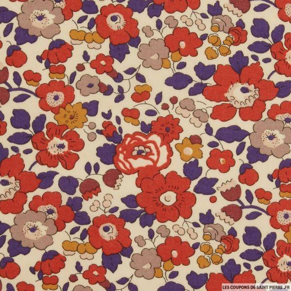 Coton liberty ® Betsy autumn dream au mètre