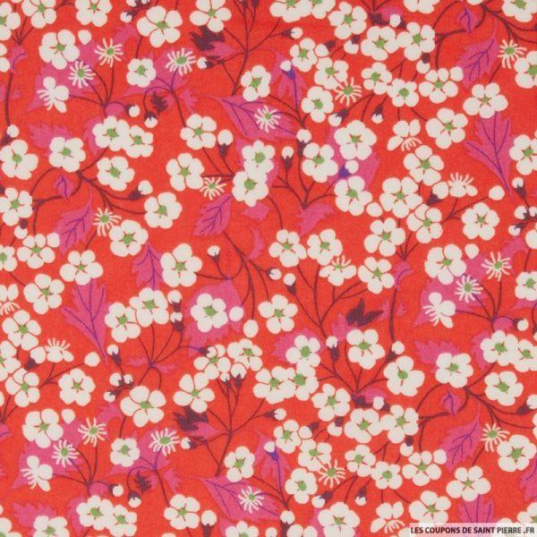 Coton liberty ® Mitsy hibiscus au mètre