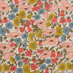 Coton liberty ® Poppy daisy venus au mètre