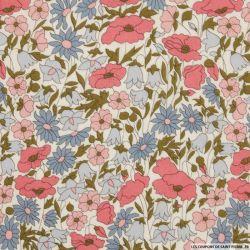 Coton liberty ® Poppy daisy hortensias au mètre