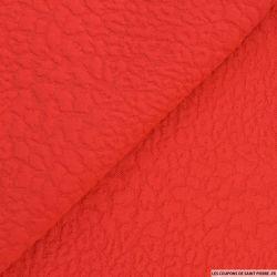 Jersey jacquard sauvage rouge
