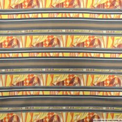 Jacquard polyester frises fantaisie orange