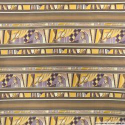 Jacquard polyester frises fantaisie violet