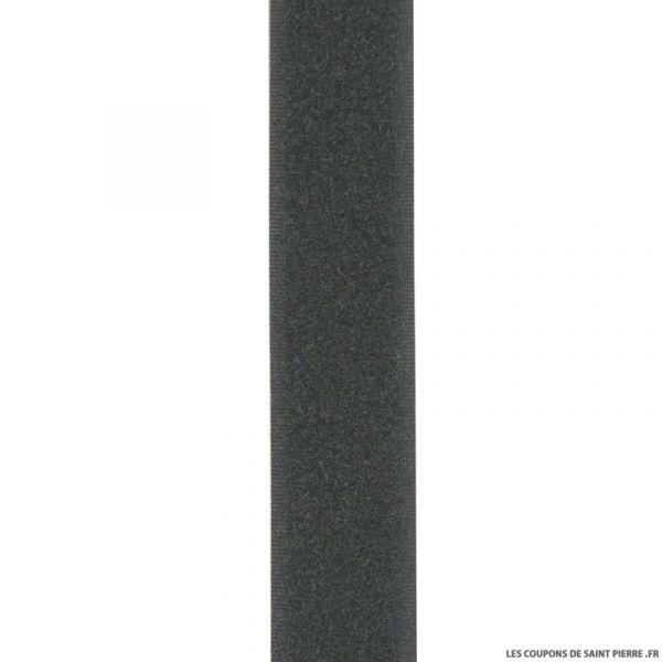 25 m auto-agrippant 20 mm noir - loop - velours