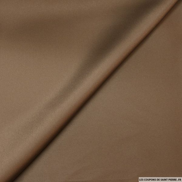 Satin de polyester marron
