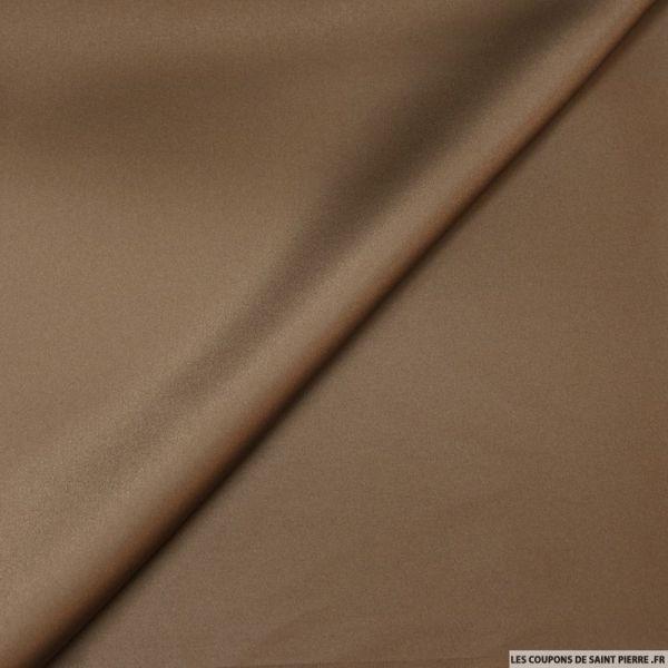 Satin de polyester marron