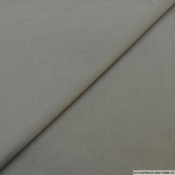 Voile de coton gris beton