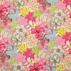 Coton liberty ® Mauvey rose au mètre