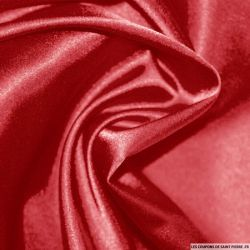 Satin Polyester uni rouge