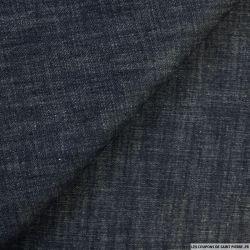 Jean's coton enduit bleu