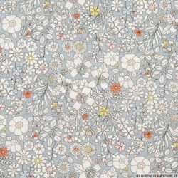Coton liberty ® June's meadow gris au mètre