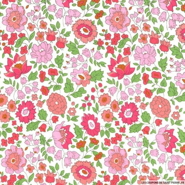 Coton liberty ® D'Anjo rose au mètre