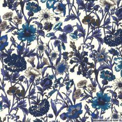 Coton liberty ® Rachel bleu au mètre