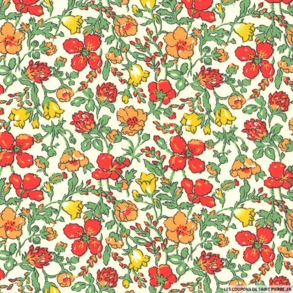 Coton liberty ® Meadow rouge au mètre