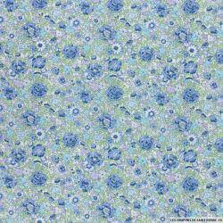 Coton liberty ® Amélie bleu au mètre