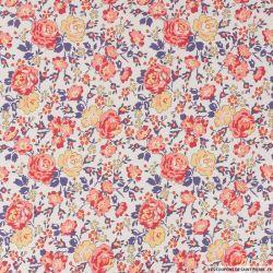 Coton liberty ® New Felicite rouge au mètre