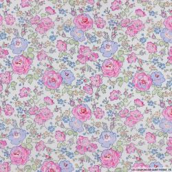 Coton liberty ® New Felicite rose au mètre
