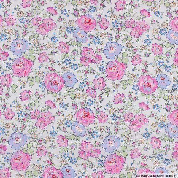 Coton liberty ® New Felicite rose au mètre