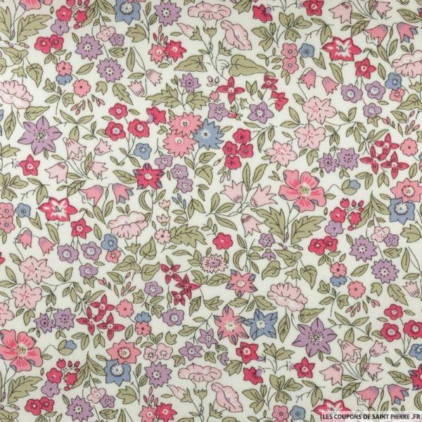 b0ebd3d57b422 Coton liberty ® Ava rose au mètre