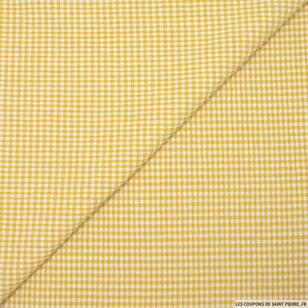 Seersucker vichy moutarde