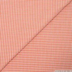 Seersucker vichy orange