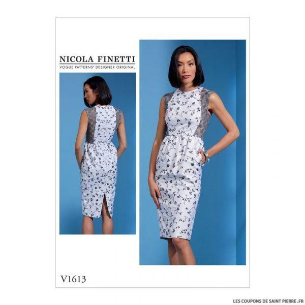 Patron Vogue V1613 : Robe moulante