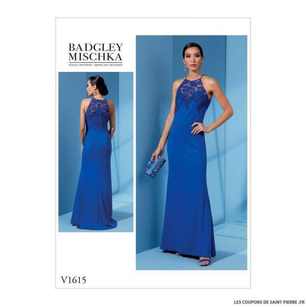 Patron Vogue V1615 : Robe de cocktail