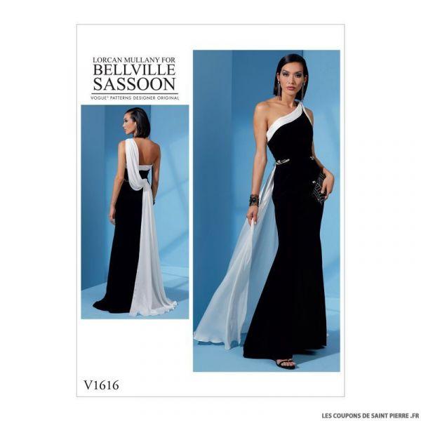Patron Vogue V1616 : Robe princesse