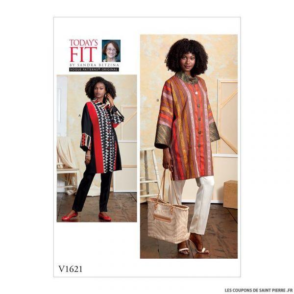 Patron Vogue V1612 : Robe évasé à volant