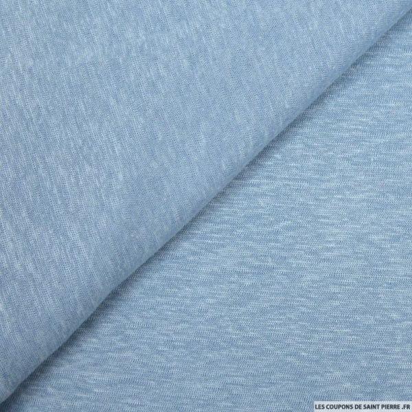 Maille de lin bleu chiné