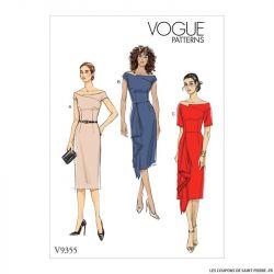 Patron Vogue V9355 : Robe ajustée