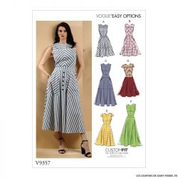 Patron Vogue V9357 : Robe évasé