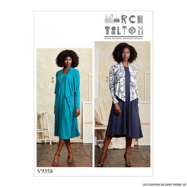 Patron Vogue V9358 : Petit boléro et robe