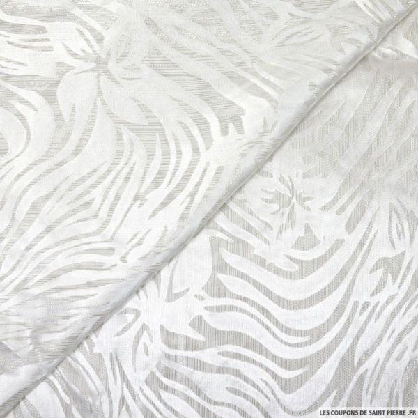 Dévoré de soie blanc optique