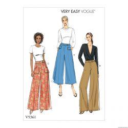 Patron Vogue V9361 : Pantalon semi-ajusté