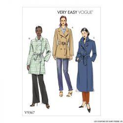 Patron Vogue V9367 : Manteau et ceinture
