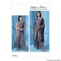 Patron Vogue V9366 : Kimono, haut et pantalon
