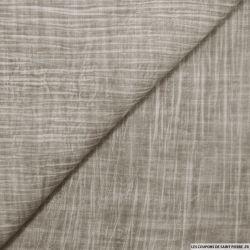 Voile de polyviscose imprimée tie and dye gris